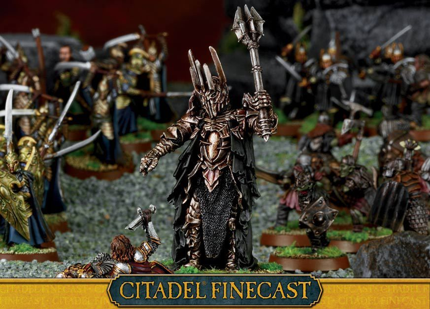 The Dark Lord Sauron | Lord sauron, Fantasy miniatures, Games workshop