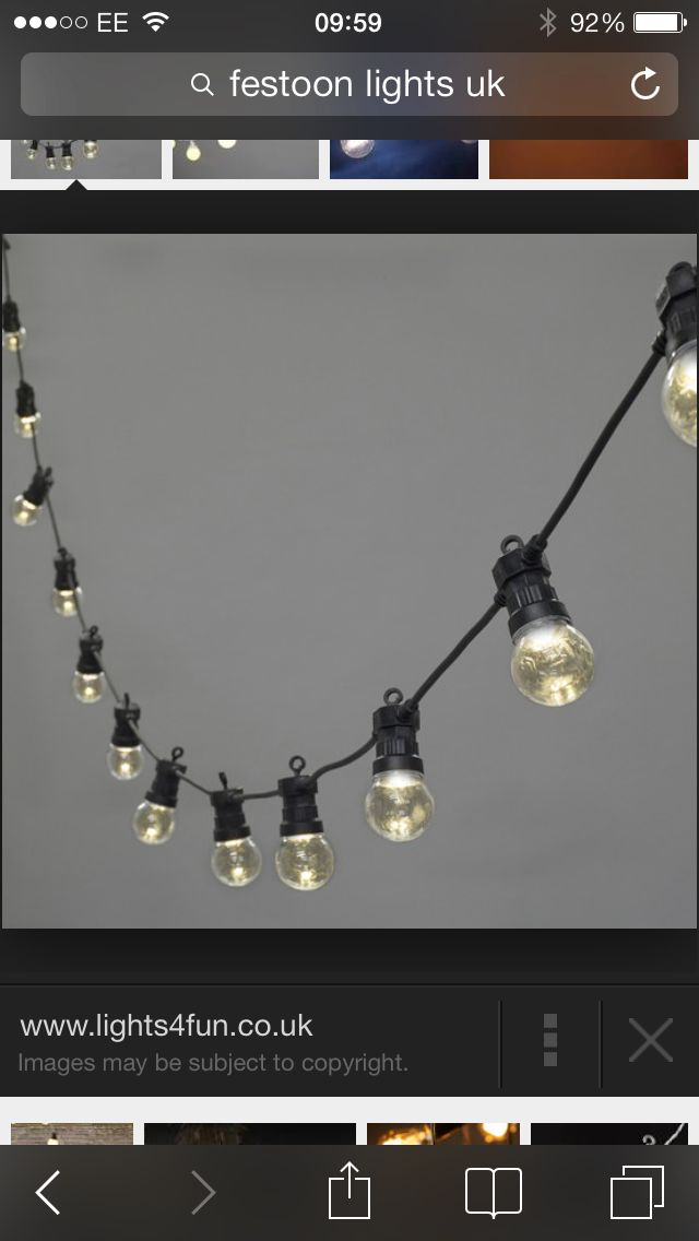 Festoon lights... We have these, very cool