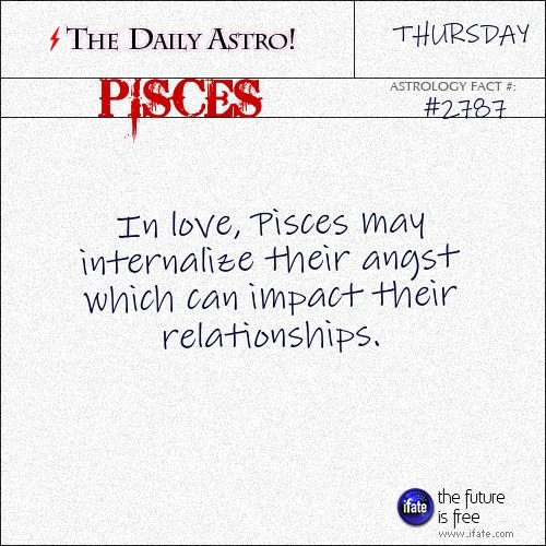 Daily Pisces Astrology Fact: Pisces, have you seen today's horoscope