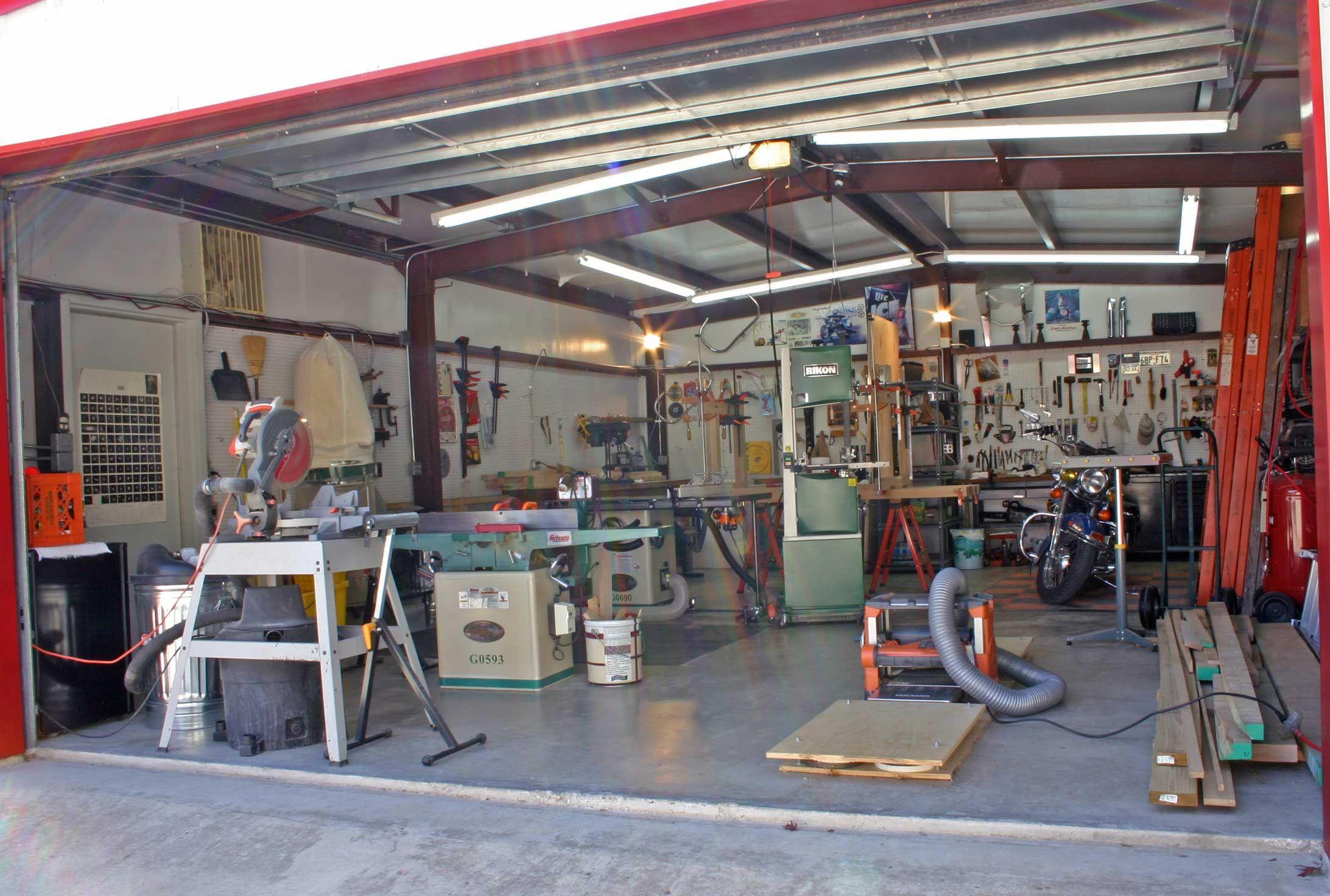 Workshop Designs Woodshop Includes Harley Corner Garage