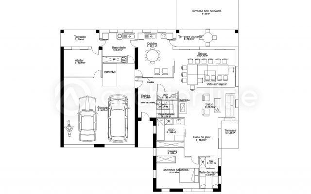 Maison bretonne plan de maison traditionnelle par archionline