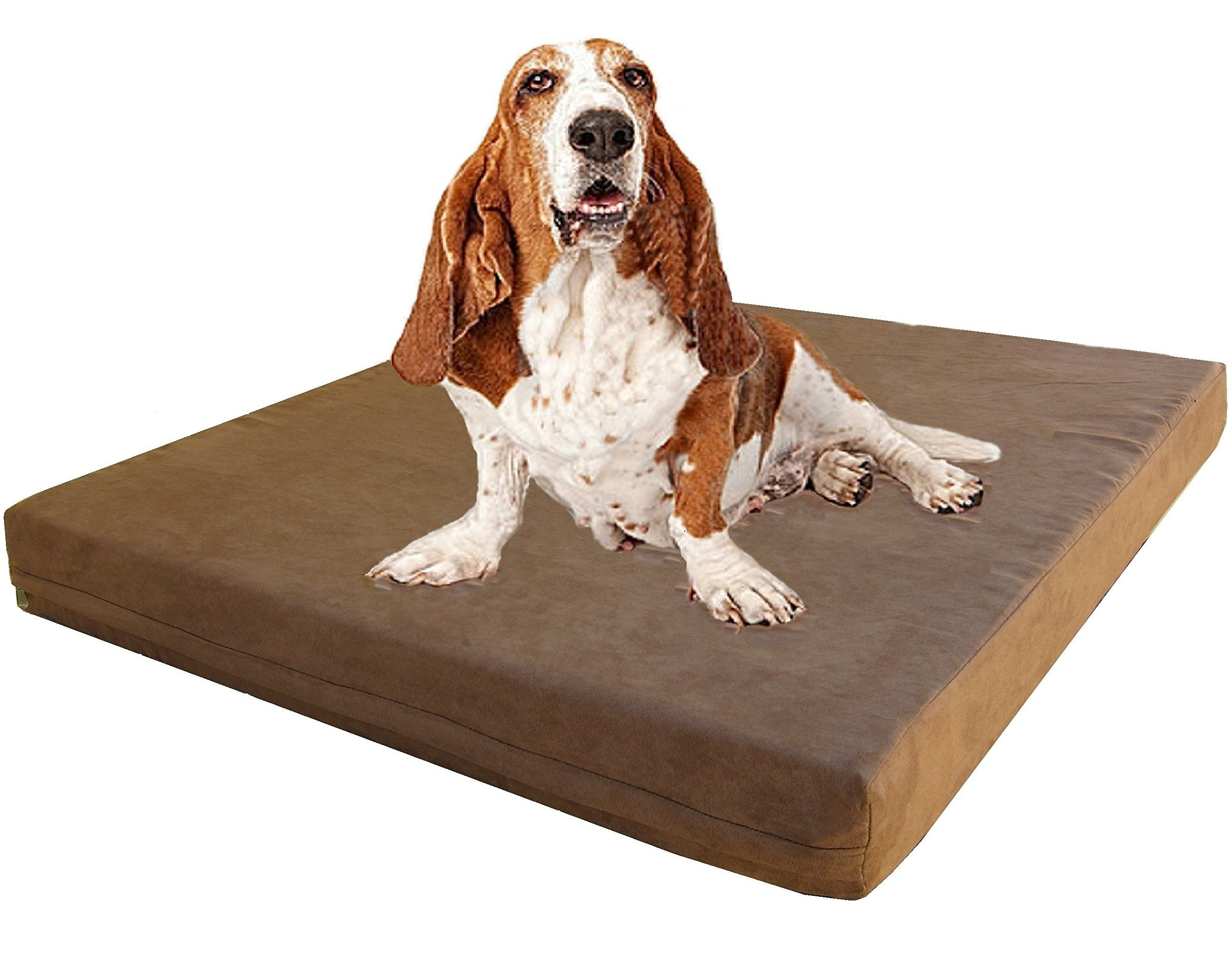 Dogbed4less Orthopedic Gel Infused Cooling Memory Foam Dog Bed For