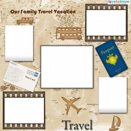 Travel templates for scrapbooking templates pinterest for Templates for scrapbooking to print