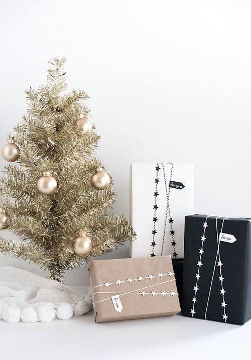 modern country christmas decor | Christmas gift wrap ideas ...