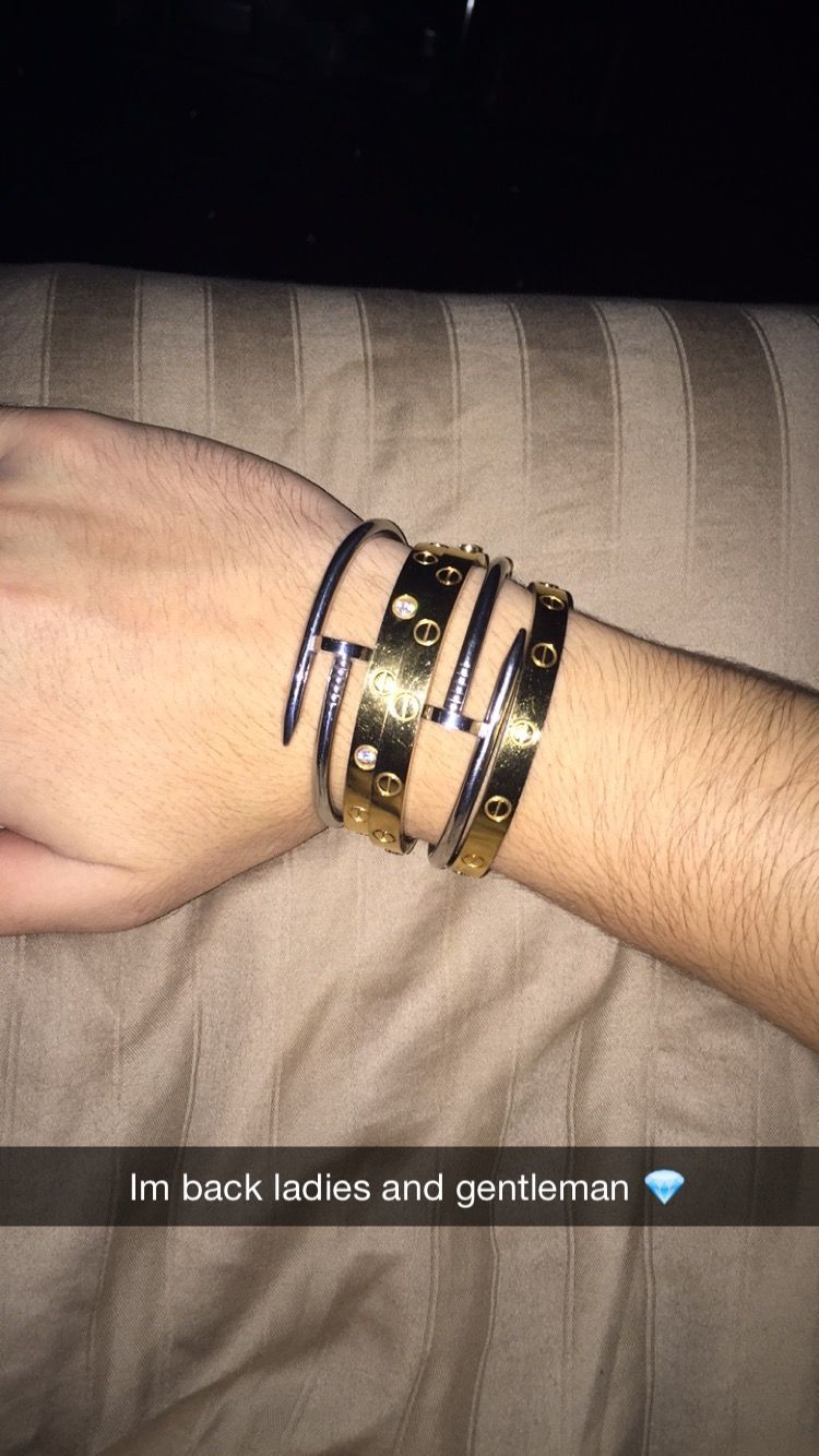 788f165d41f my stack of Cartier Love and Cartier Juste un Clou bracelets