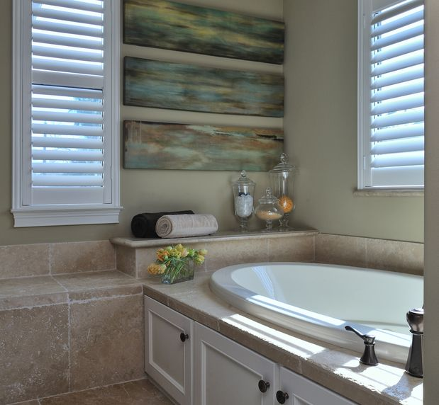 Modern Bathroom With Shutters In Dallas TX Bathroom Pinterest - Bathroom remodel dallas cost
