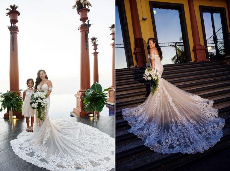 Calla Blanche Yasmine Gown Zephyr Palace Costa Rica Victoria Bc Wedding