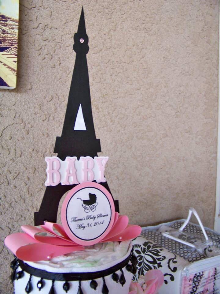 Paris French Theme Diaper Cake Tower Eiffel for Baby Girl |Eiffel Tower Diaper Cake