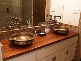 Teak Wood Countertop Photo Gallery Wood Countertops Bathroom