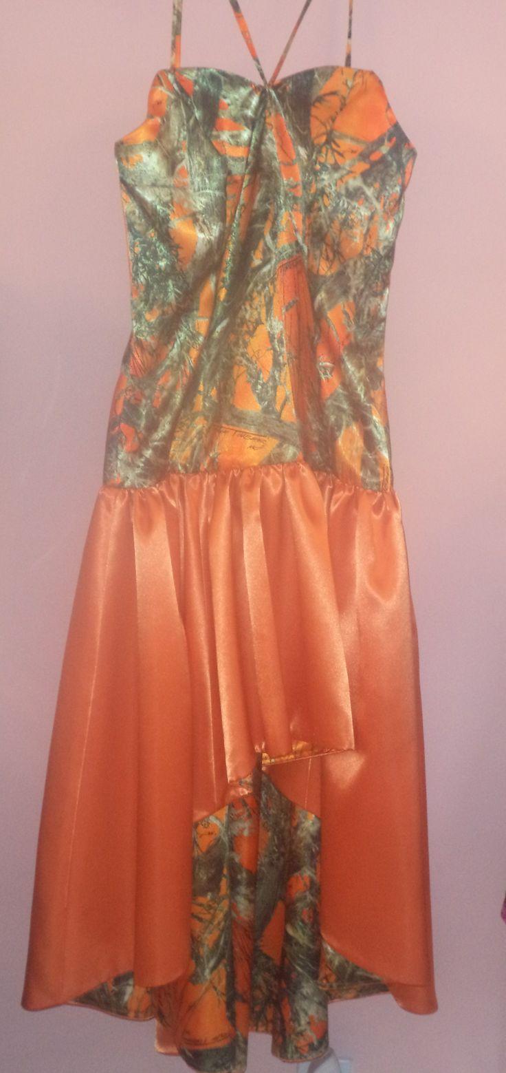 Orange Camo Dress camodresses Dresses, Camo dress