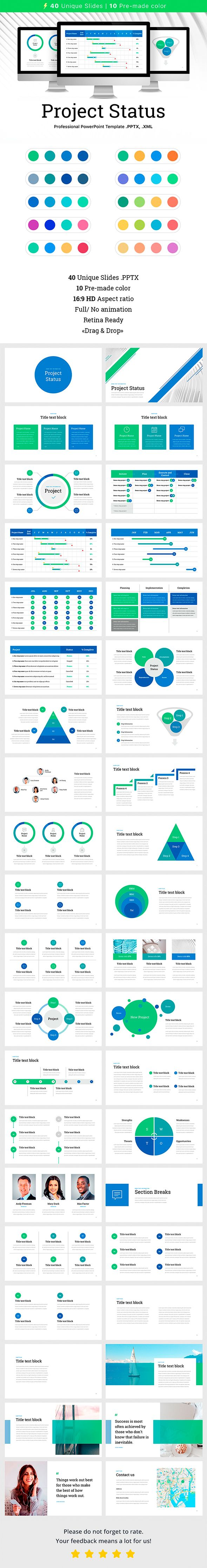 project status business powerpoint templates presentation