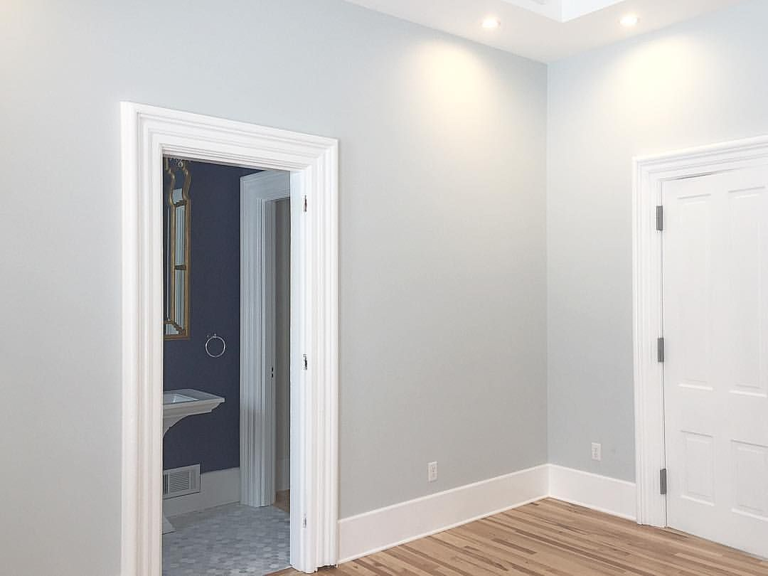 Sherwin Williams Lullaby with Sherwin Williams Extra White trim ...