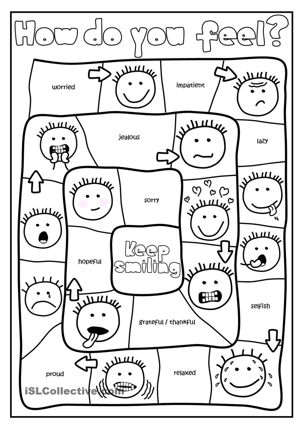 How do you feel? - board game | L2 | Pinterest | Englisch und Schule
