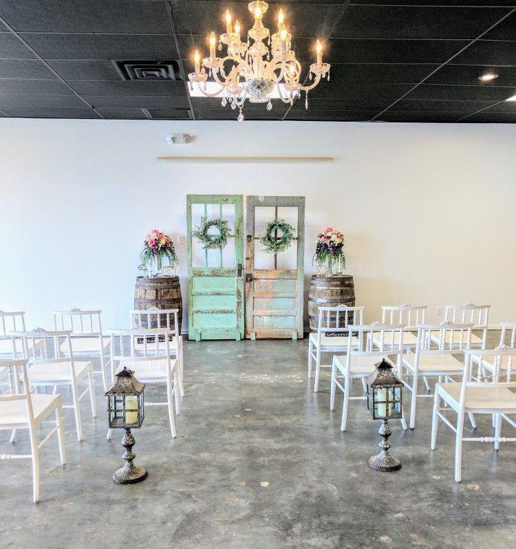 Beautiful Indoor Wedding Ceremony: Beautiful Intimate Indoor Vintage Rustic Wedding Ceremony