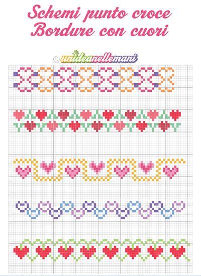 Schemi punto a croce bordure stampabili printable for Schemi bordure uncinetto per lenzuola