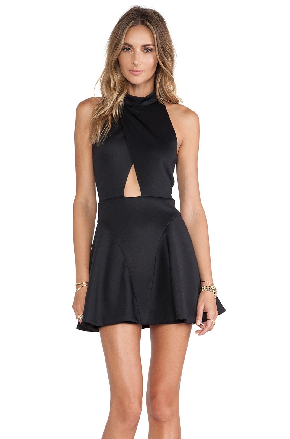 NBD Cocktail Fit & Flare Dress in Black | THE LBD | Pinterest | Fit ...
