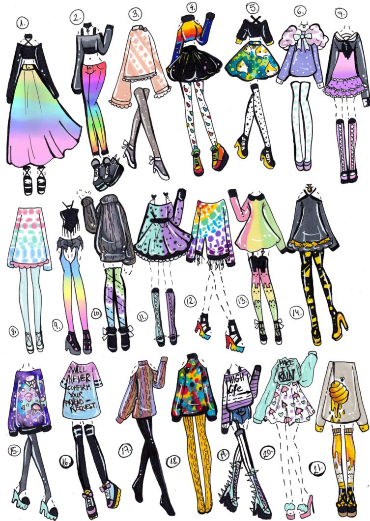 CLOSED 21 pack by GuppieAdopts Clothing Designs and