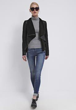 mbyM - VALENTINE - Leren jas - black