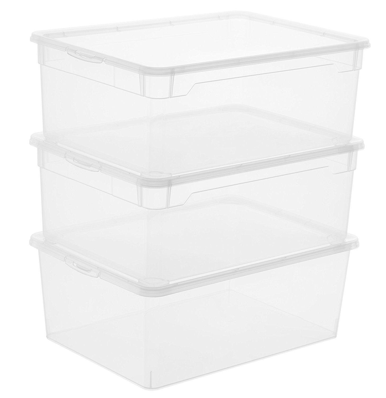 Rotho 3368094094 3 Er Set Clear Box Man Shoe 10 L Aufbewahrungsbox Mit Deckel Qr Code Appmybox Tra Aufbewahrungsbox Aufbewahrung Aufbewahrungsbox Mit Deckel
