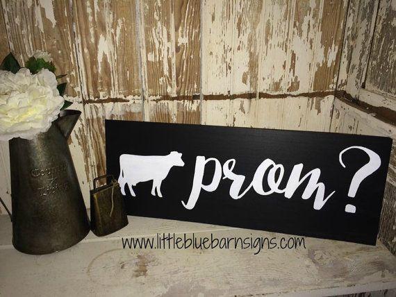 Prom Sign Promposal 4-H FFA farm dairy ask by LittleBlueBarnSigns