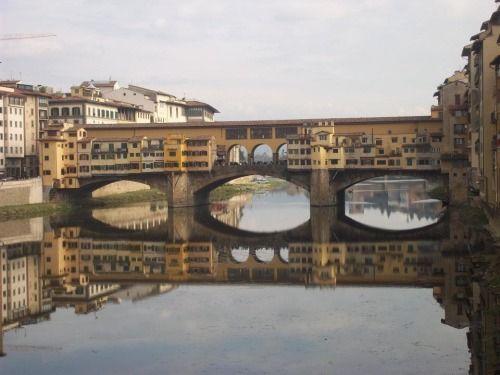 Il Ponte Vecchio così caratteristico...