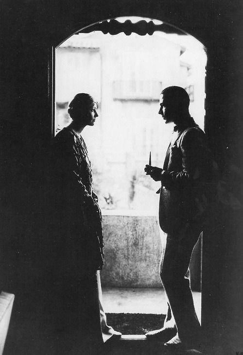 Natacha Rambova and Rudolph Valentino, 1920s.