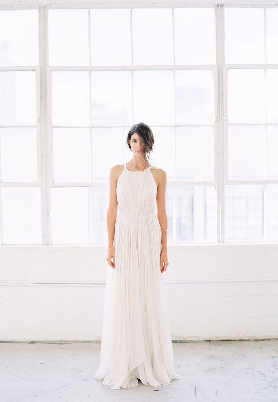 15-modern-grecian-wedding-gown | The Modern Bride | Dresses | Gowns ...
