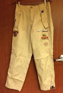 New Mens Southpole Racing Team Motocross Motorcycle Pants Tan Patches Pockets Ebay Motorcycle Pants Pants Clothing Items