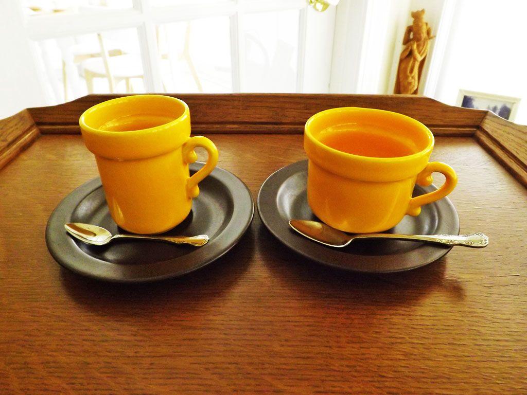 Difference Between Coffee Tea Cups Potterie De Driehoek In Huizen The Netherlands