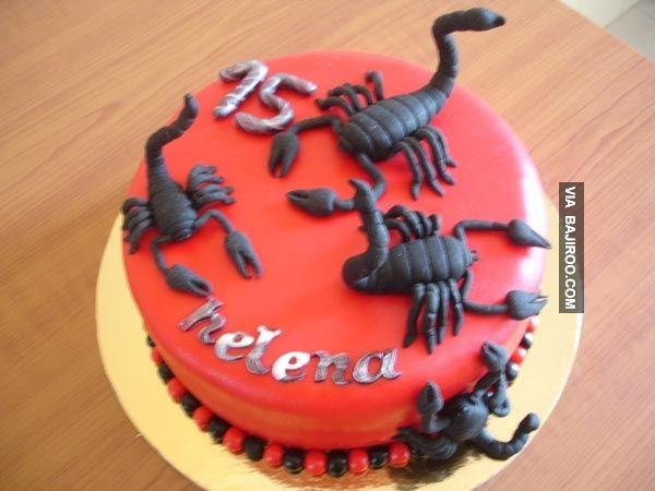 21 Designs Of Scorpion Themed Cakes Bajiroo Com