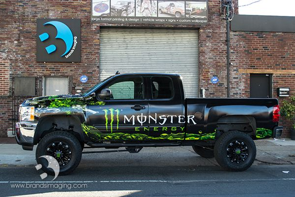 Vehicle Wrap For Monster Energy Vehiclewraps Monsterenergy