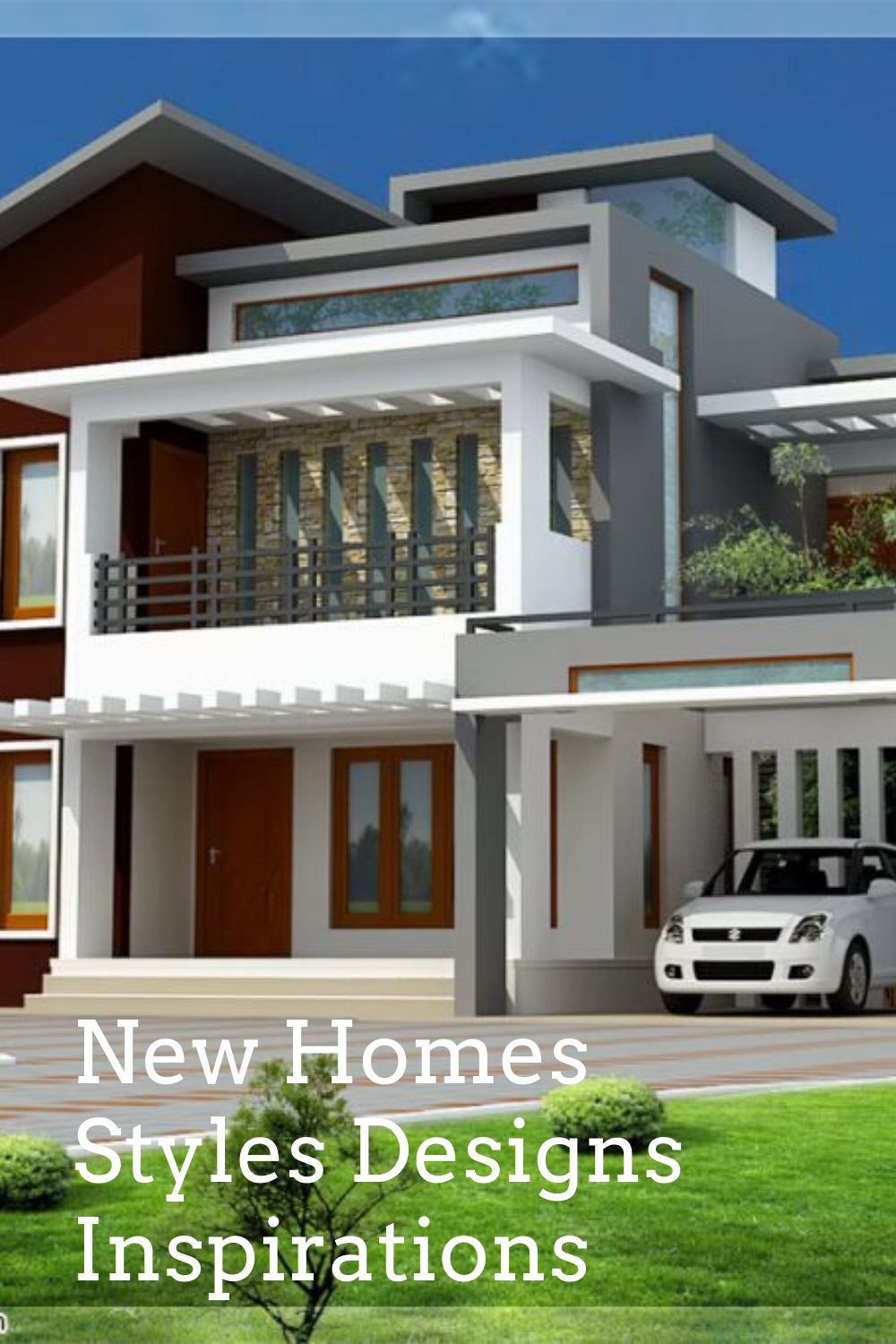 13 Wonderful New Homes Styles Designs Inspirations In 2020 House Styles House Design Pictures House Front Design
