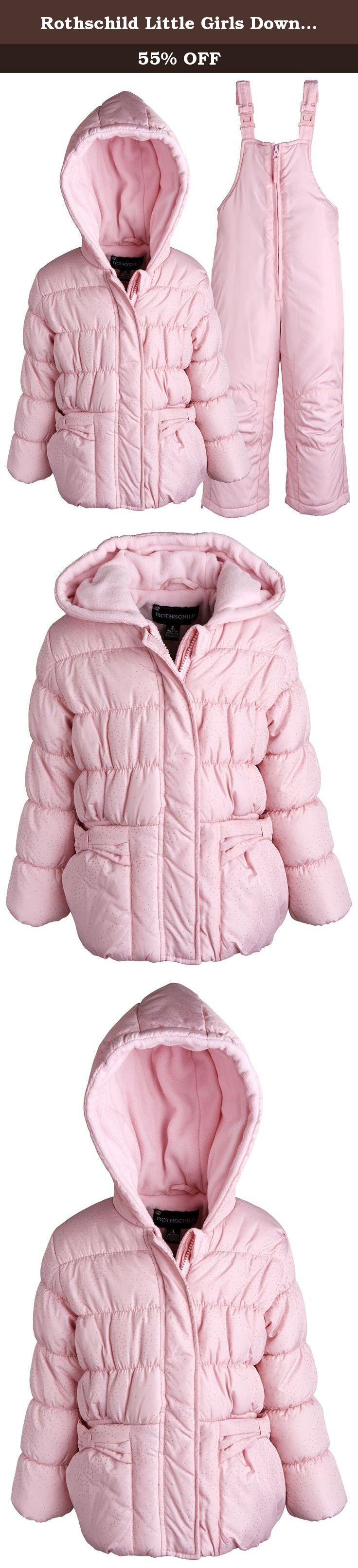 c9e477b296a4 Rothschild Little Girls Down Alternative Bubble Snowsuit Ski Bib and ...