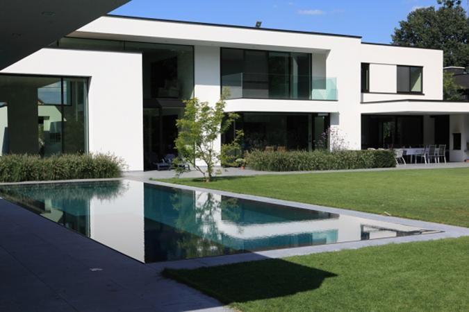 ZWEMBADEN | PUURGROEN. Zukünftiges HausHaus Der ArchitekturTransporter Moderne HäuserHauswandBauhausModernes DesignVillenMitte Des Jahrhunderts