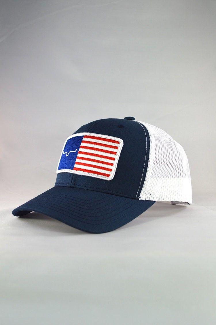 6d889928e8ecb Kimes Ranch® Navy   White American Trucker Cap Style  AMERICAN TRUCKER