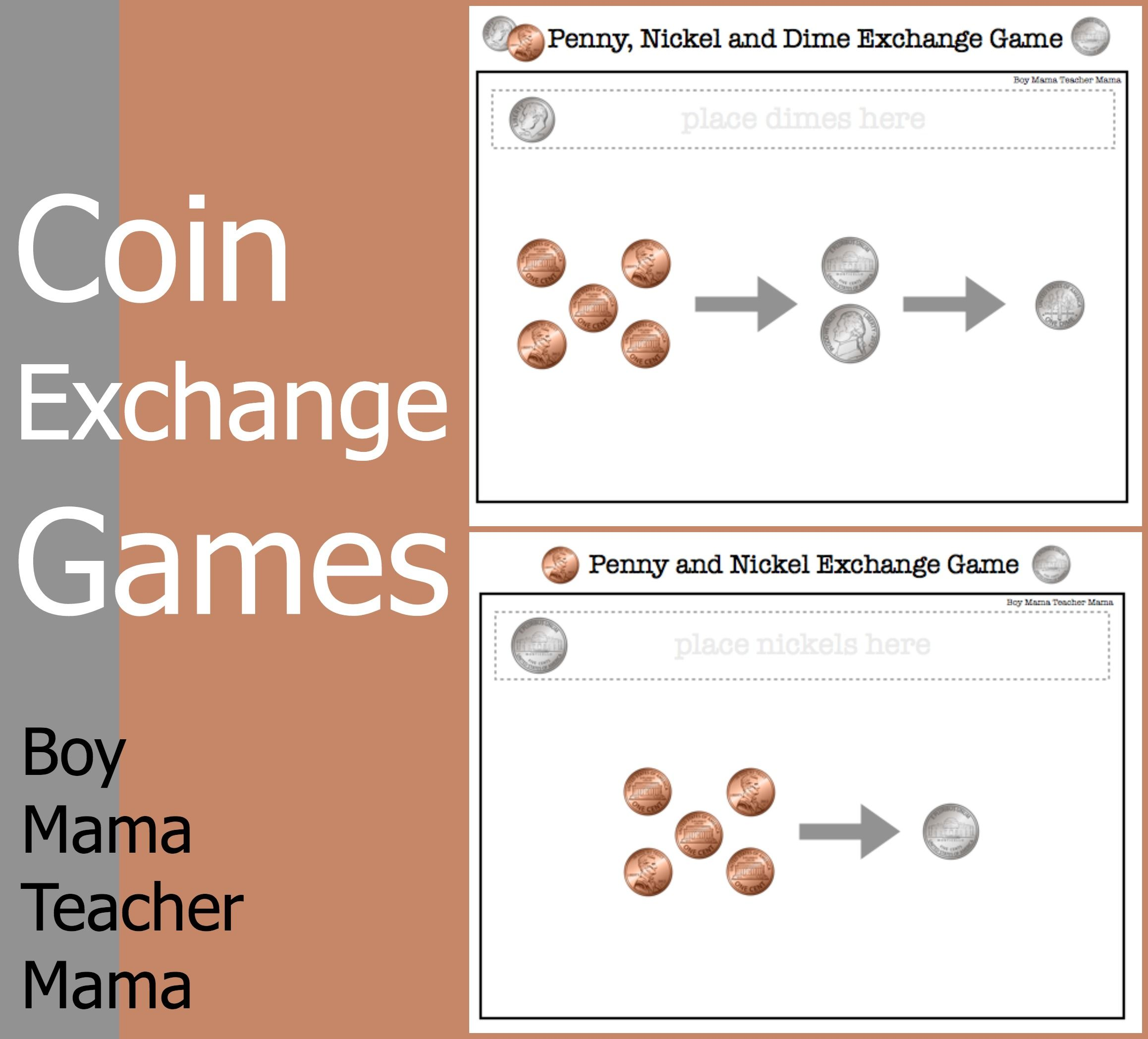 Teacher Mama Coin Exchange Games