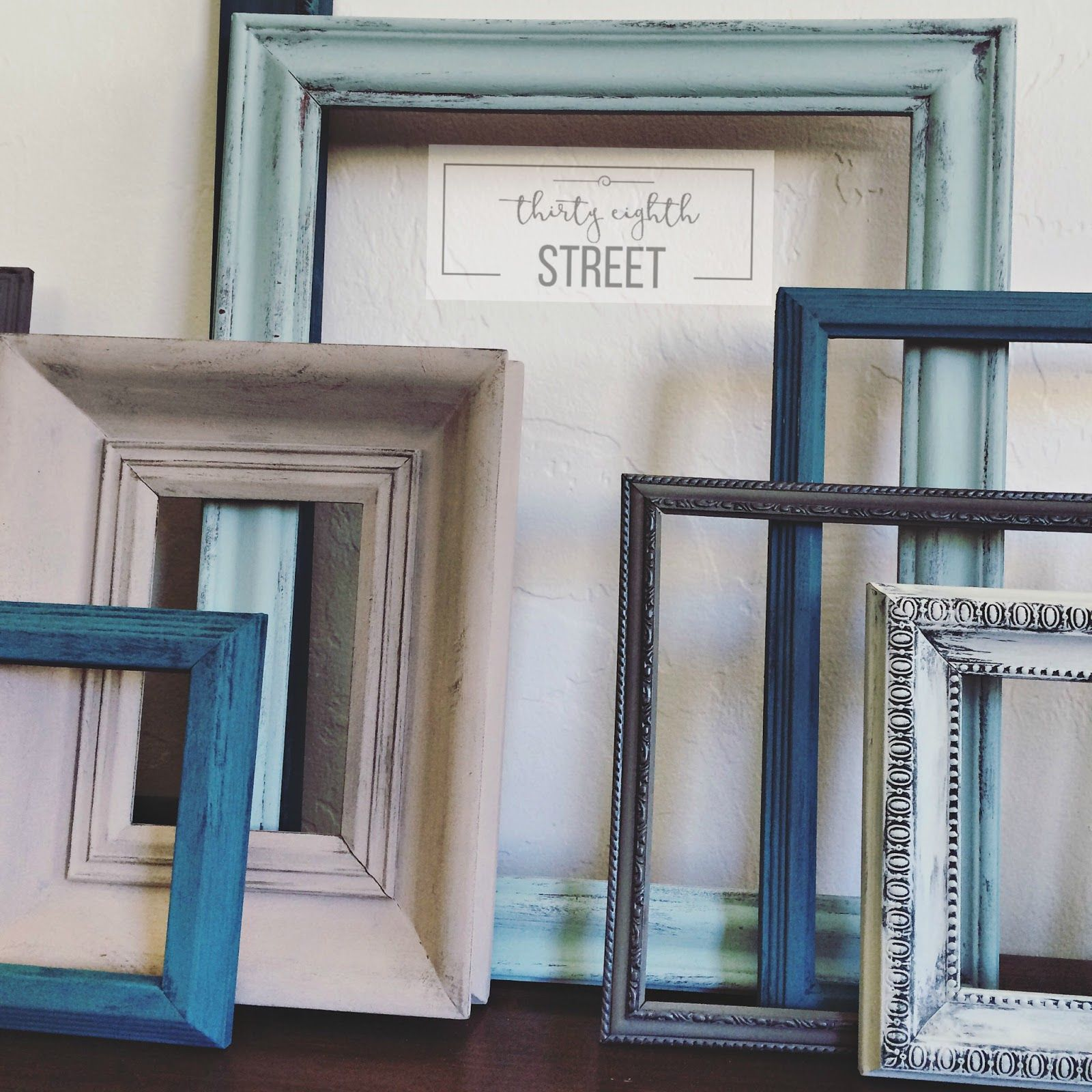 DIY Painted Thrift Store Picture Frames