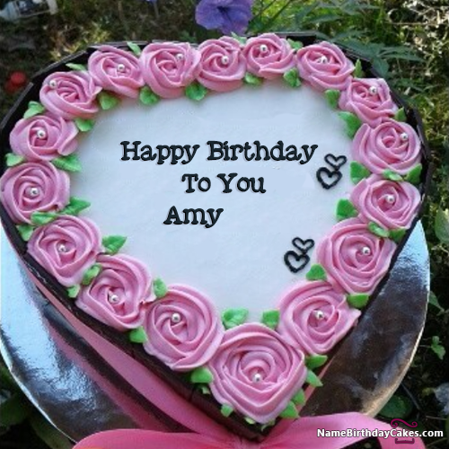 Terrific Happy Birthday Amy Video And Images Happy Birthday Cakes Personalised Birthday Cards Sponlily Jamesorg