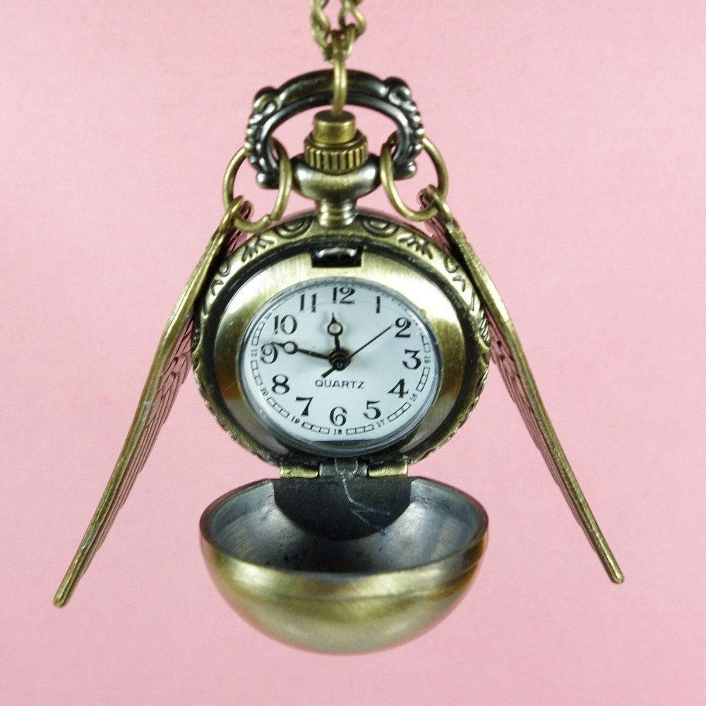 Harry Potter Enchanted Golden Snitch Ball WATCH locket | hidden ...