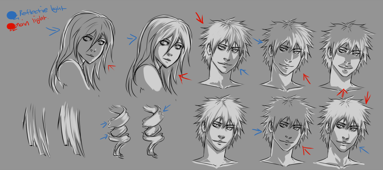 Face And Body Lighting Tips By Moni158 On Da Drawings Animated Drawings Drawing Illustrations