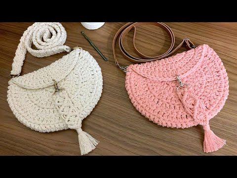 Bolsa de Crochê – Como Fazer Uma Bolsa de Crochê – Tutorial de Crochê – Crochet Bag – DIY – Crochet