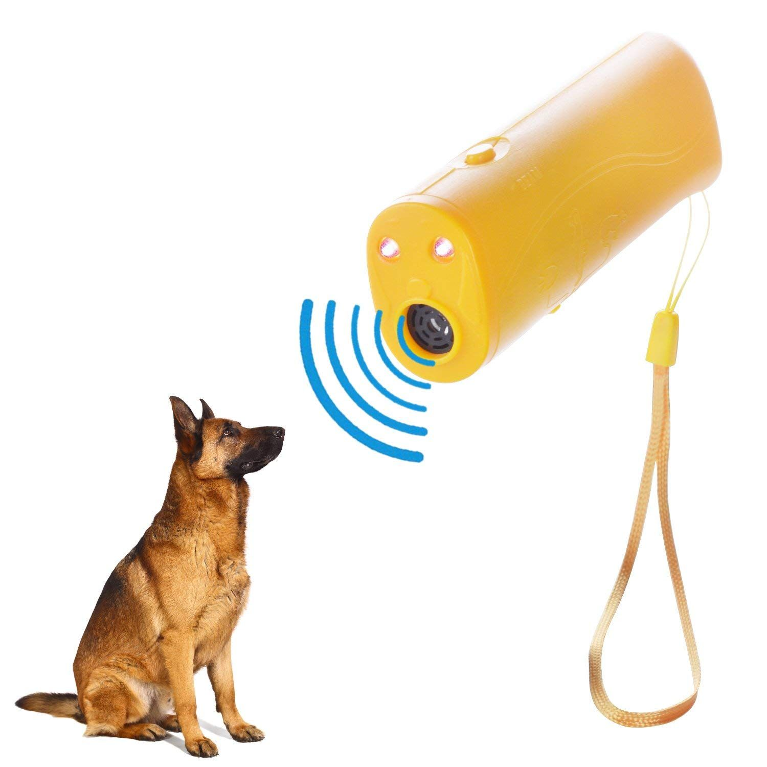 Letcome Led Ultrasonic Dog Repeller And Trainer Device 3 In 1 Anti