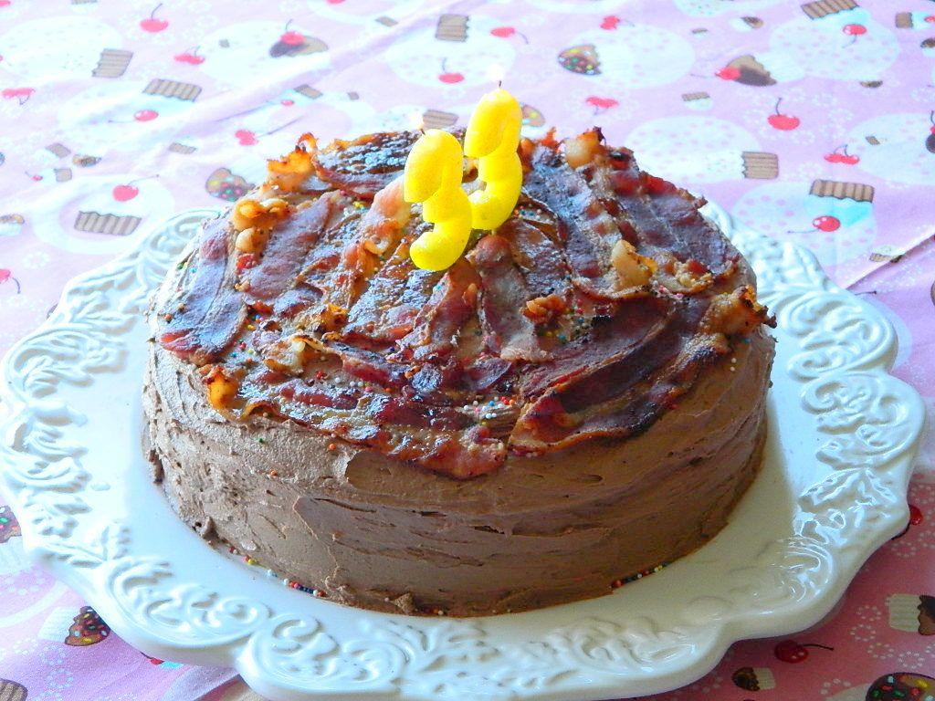 Bacon birthday cake cake desserts sheet cakes decorated
