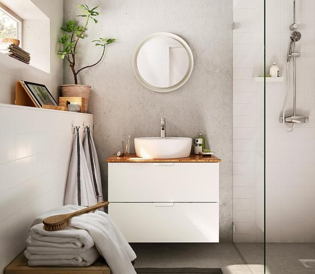 Mit Licht Beleuchteter Badspiegel Storjorm Von Ikea Bild 11