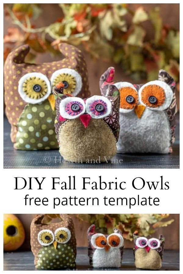 Learn how to make these adorable fabric owls with leftover scraps from your sewing…
