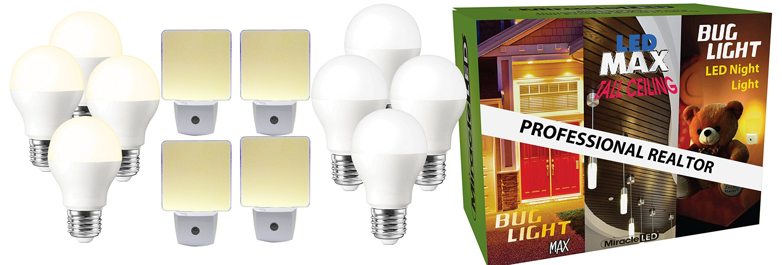 Miracleled 604156 Home Makeover Combo Pack 4 Bug Light Max Led