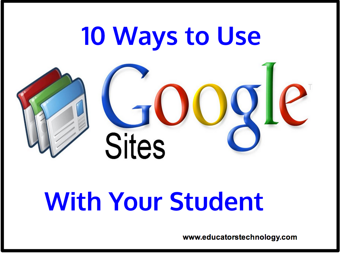 10 Ways To Use Google Sites With Your Students Teacher Tech Educational Technology Google Education