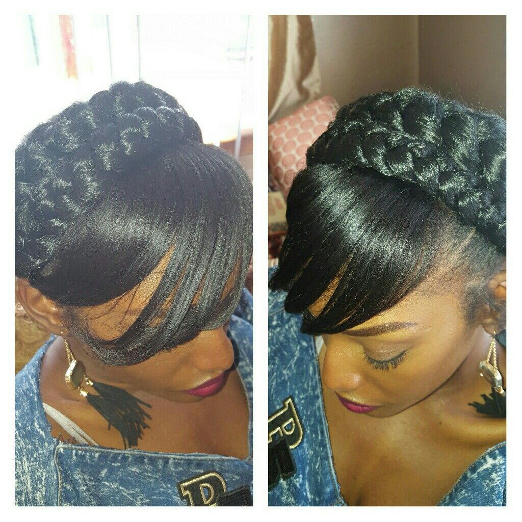 Halo braid with bangs | my creations | Pinterest | Halo ...