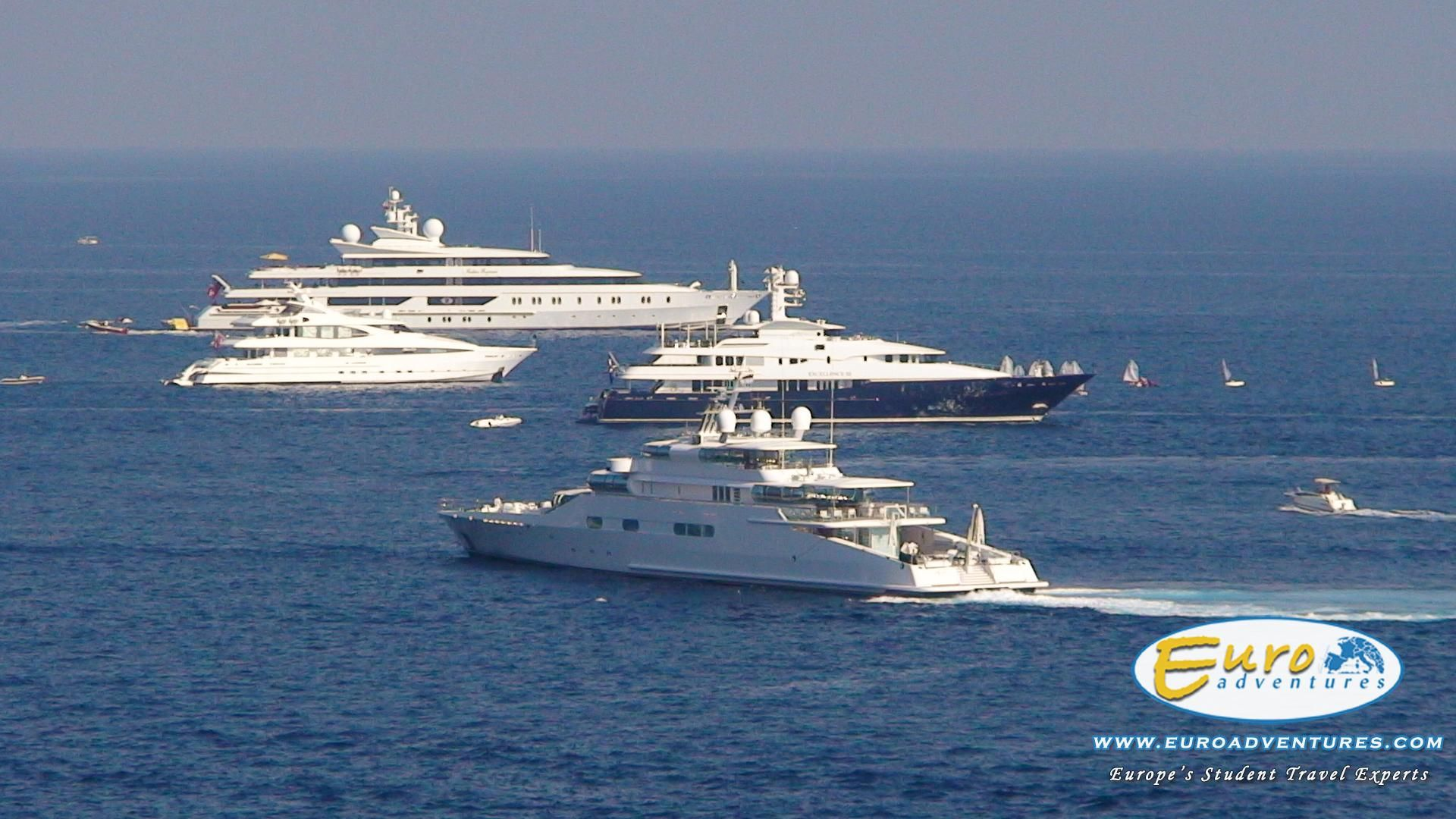 Superyachts off of Monte Carlo