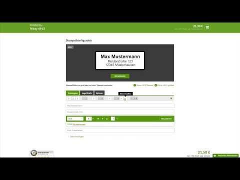 VideoTour Stempel erstellen, Online bestellen, Online